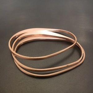 COS rose gold mininalist cuff bangle bracelet